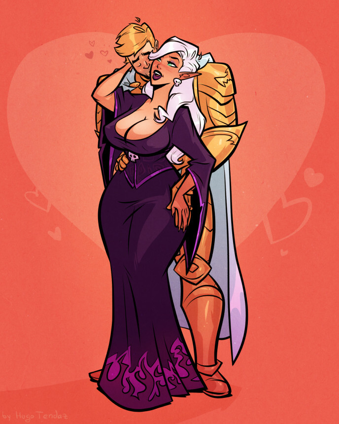 Sin and Andurs - Cartoon PinUp Commission