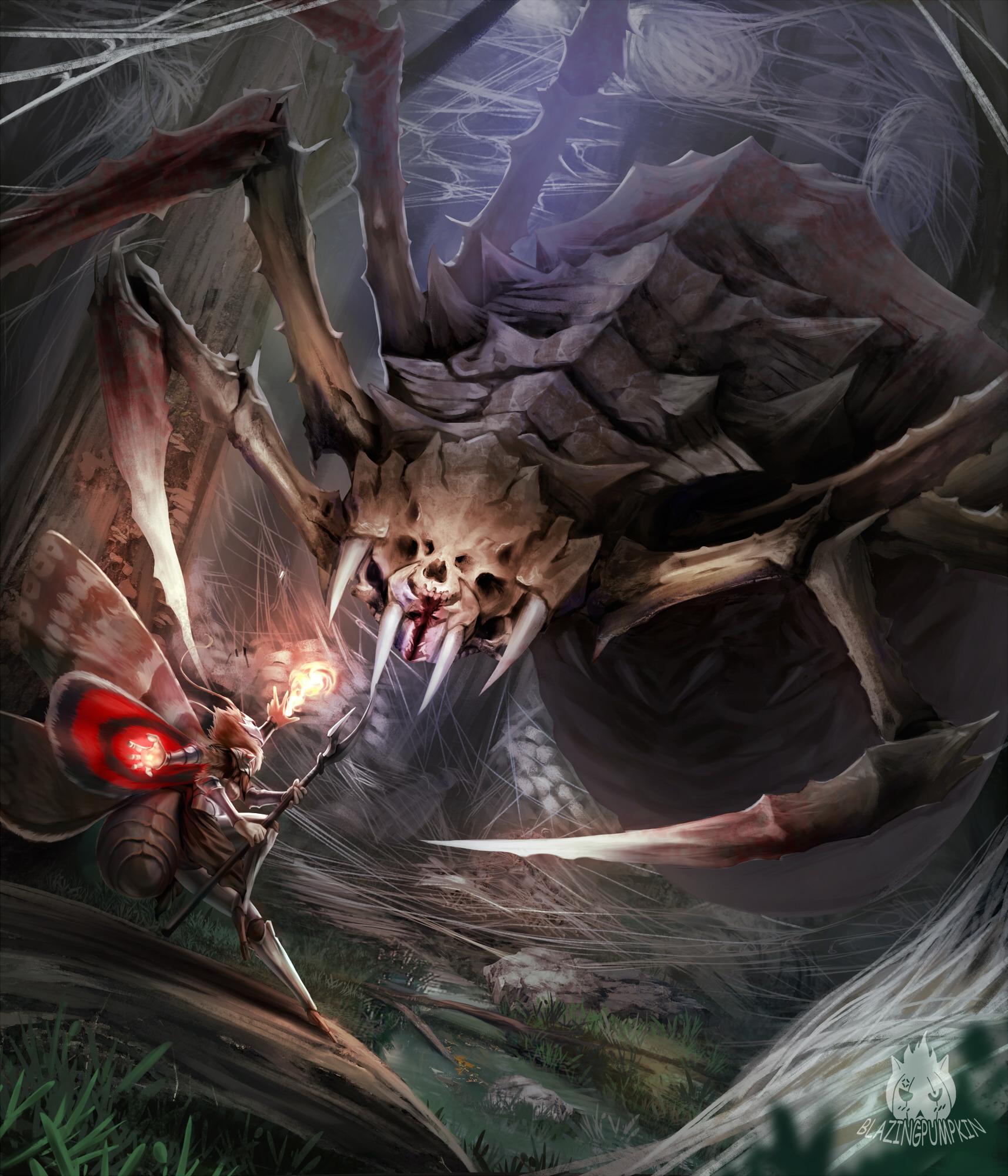Moth vs Spider