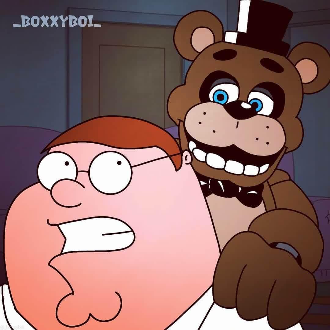 Holy freaking crap! It's Freddy Fazbear!