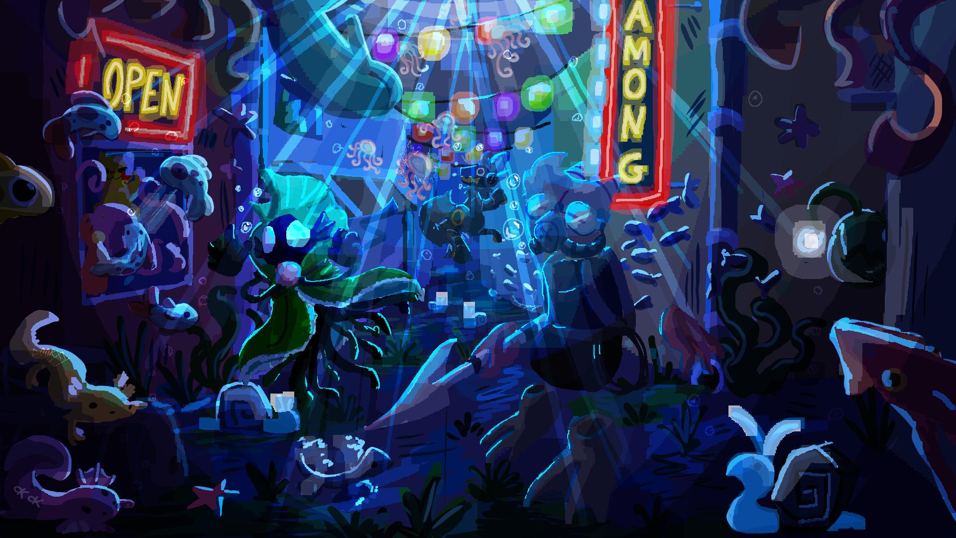 Deep sea neon town