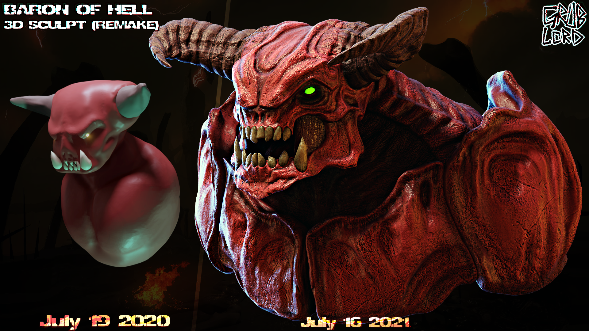 BARON OF HELL SCULPT (Remake)