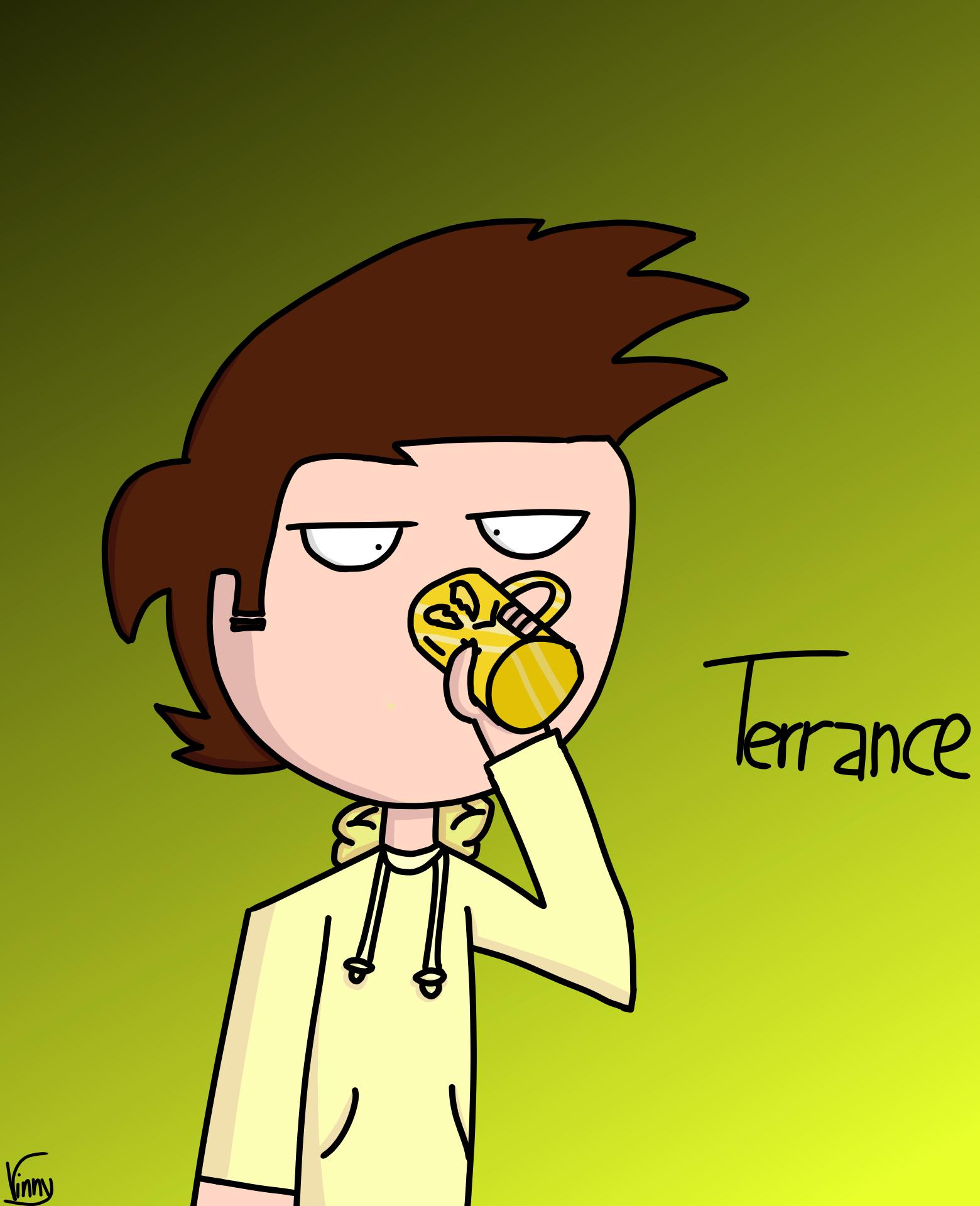 Gold Man Terrance but he's an actual human