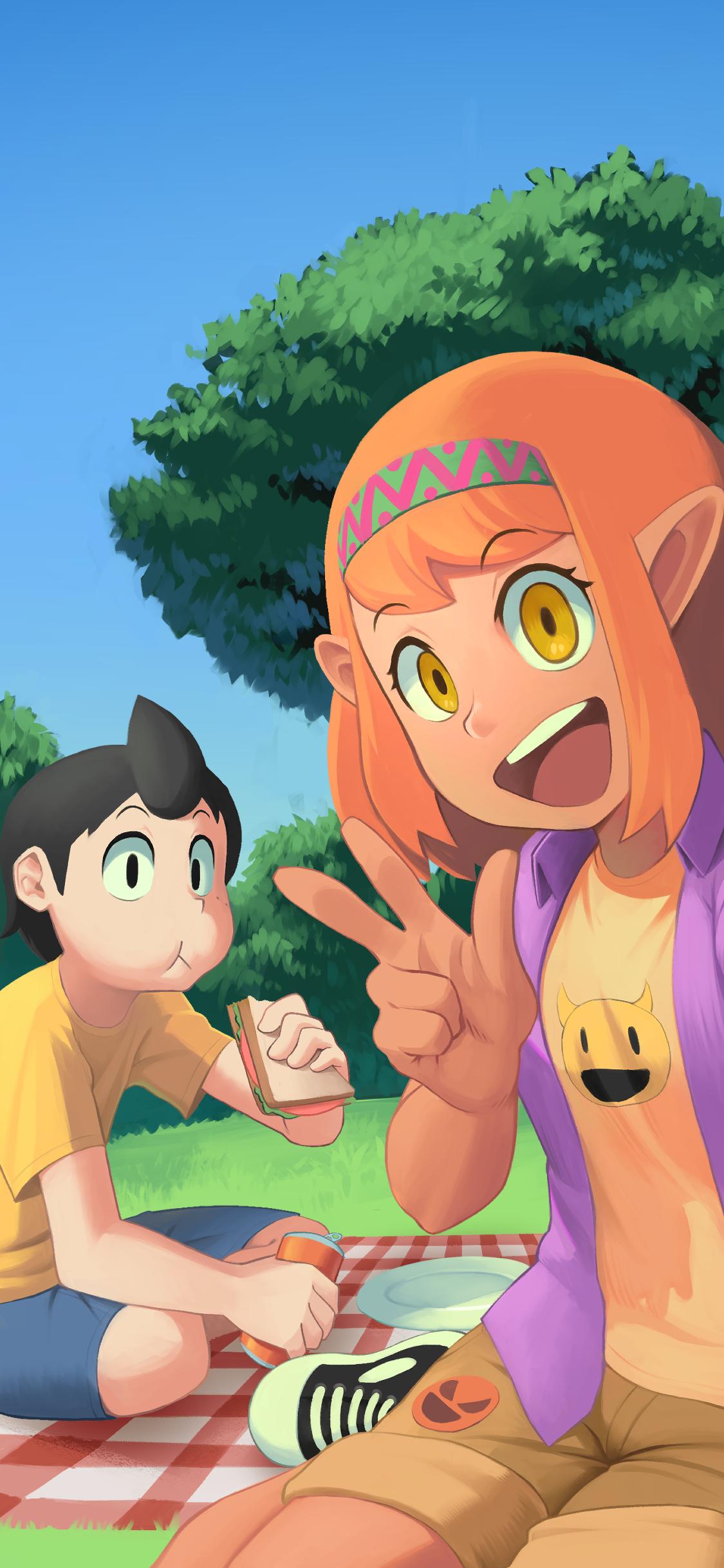 picnic selfie surprise