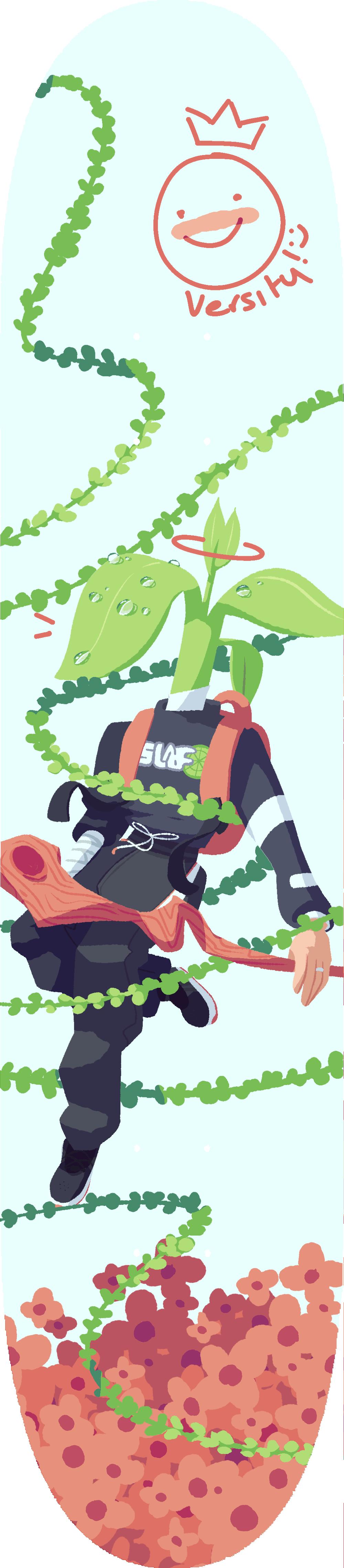 Skateboard Design - Plant Man