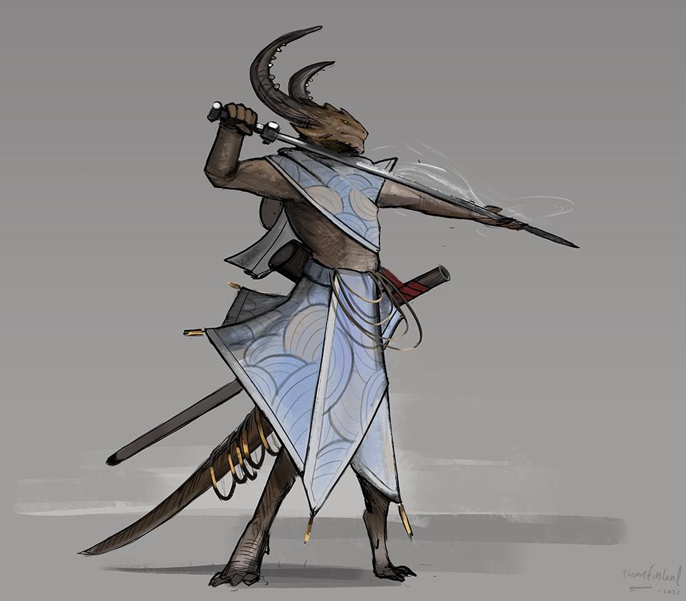 Ceremonial swordsman