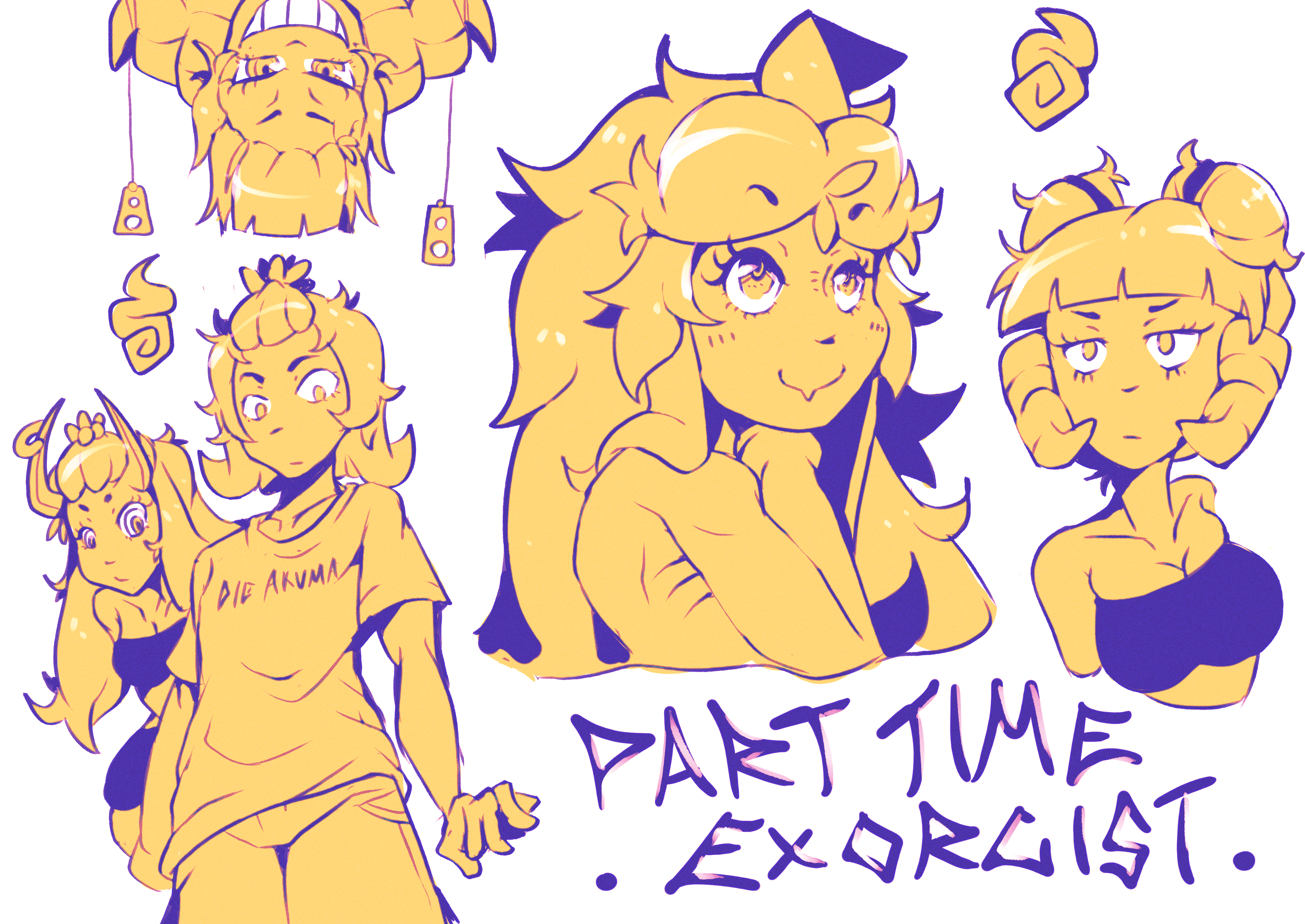 Part Time Exorcist sketches