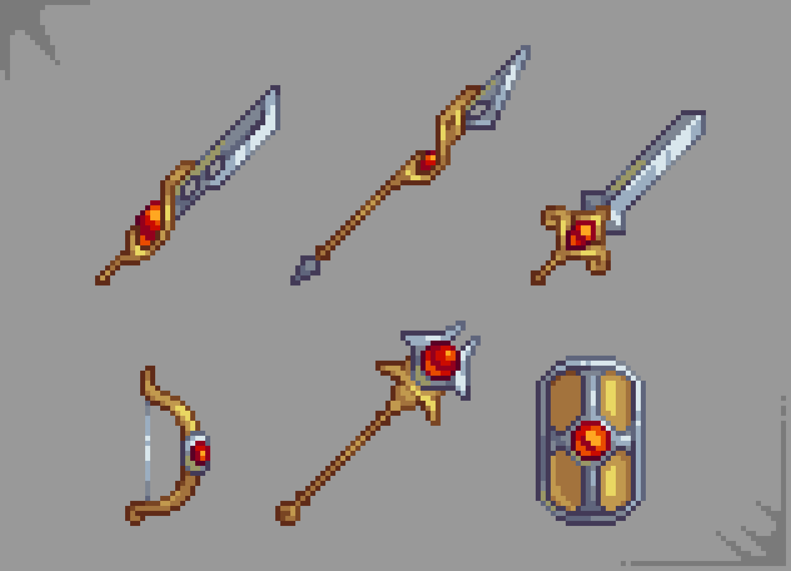 Golden Weaponry
