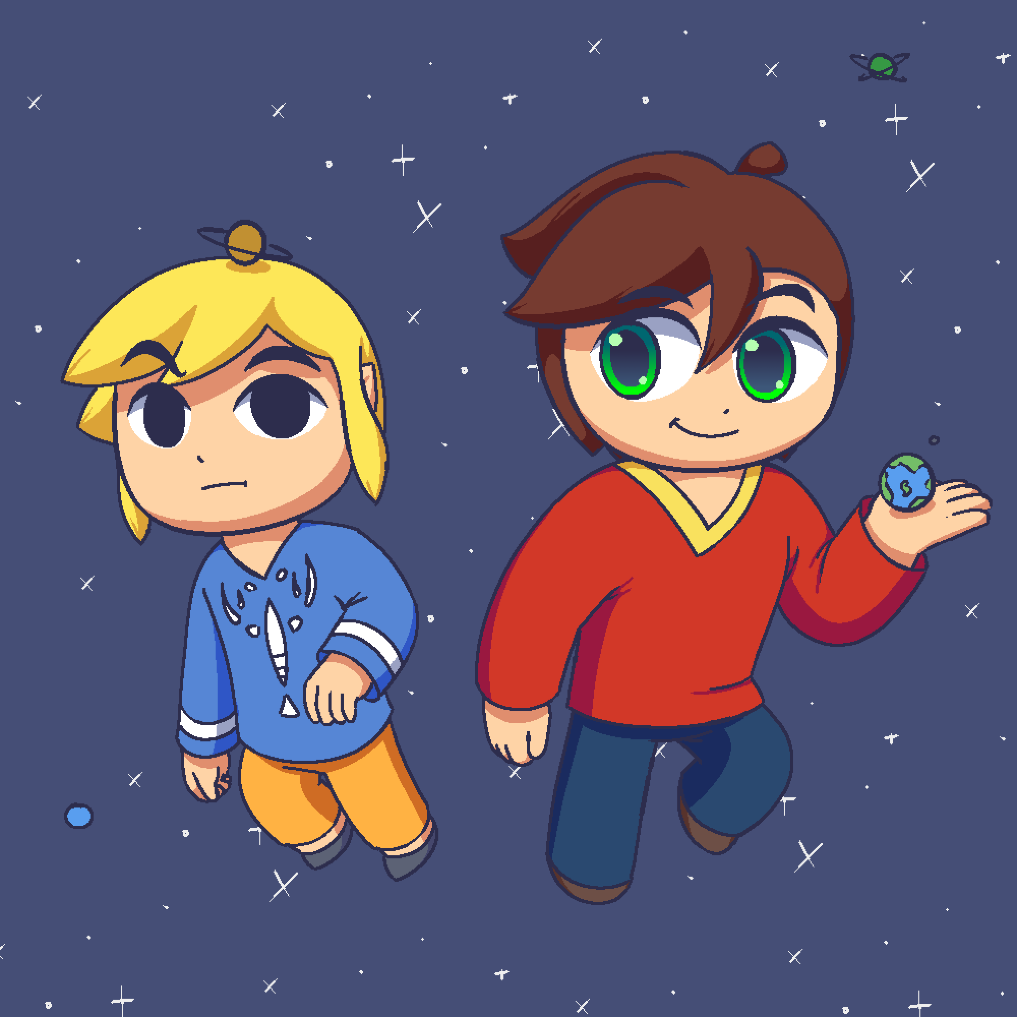 Sol and Toon Link