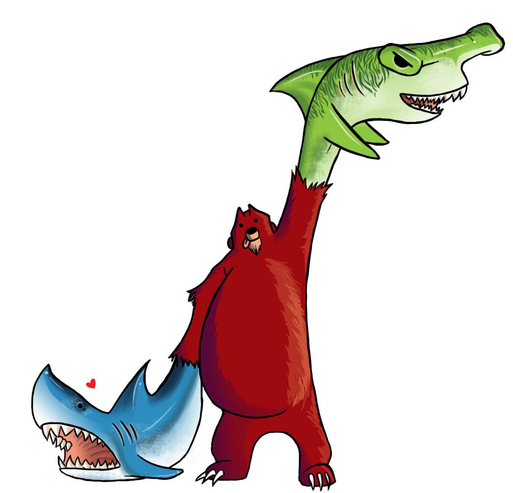 Bear with Shark Arms
