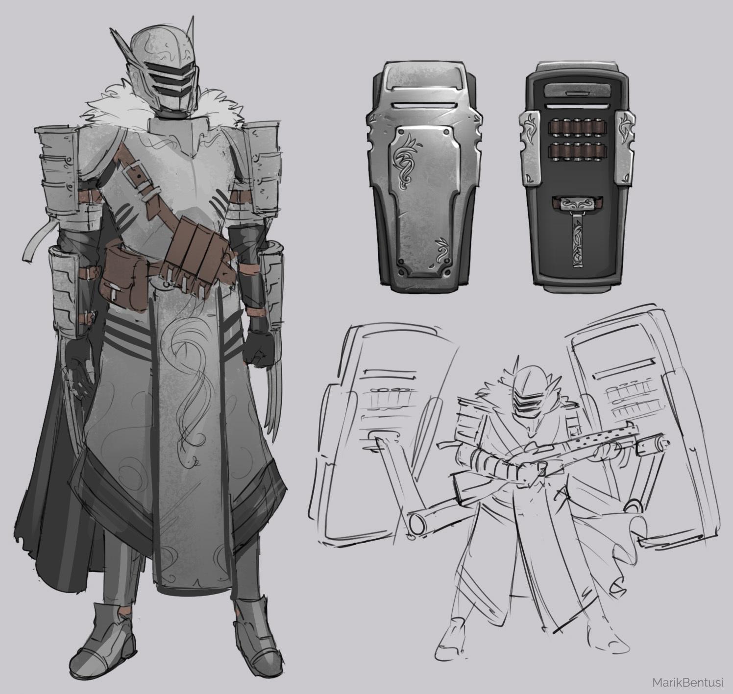 Knight 'n' Guns Sketches