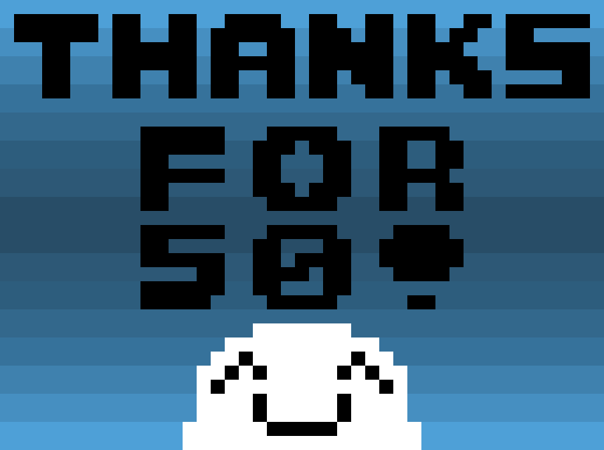 Thanks for 50 followers!
