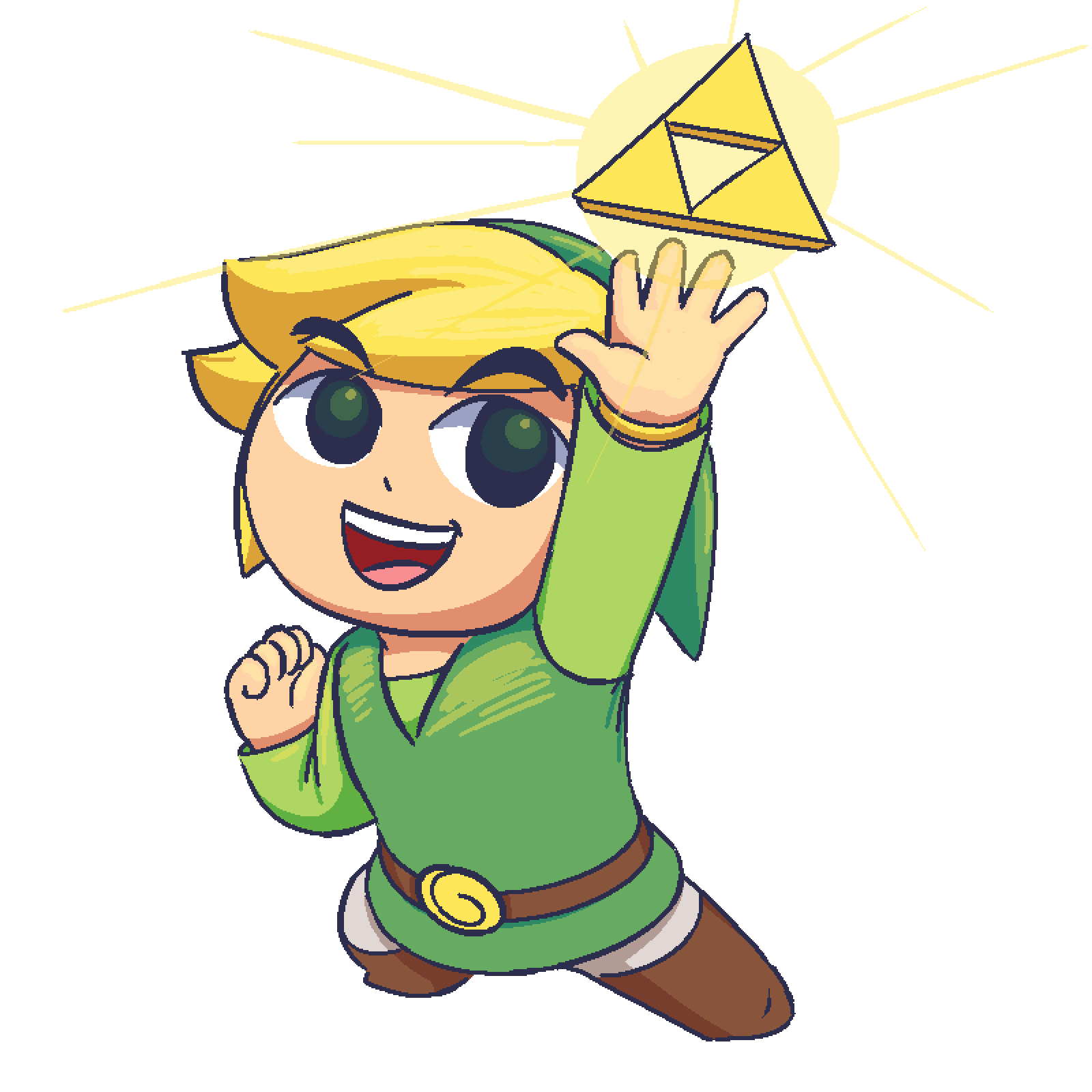 Toon Link gets an item