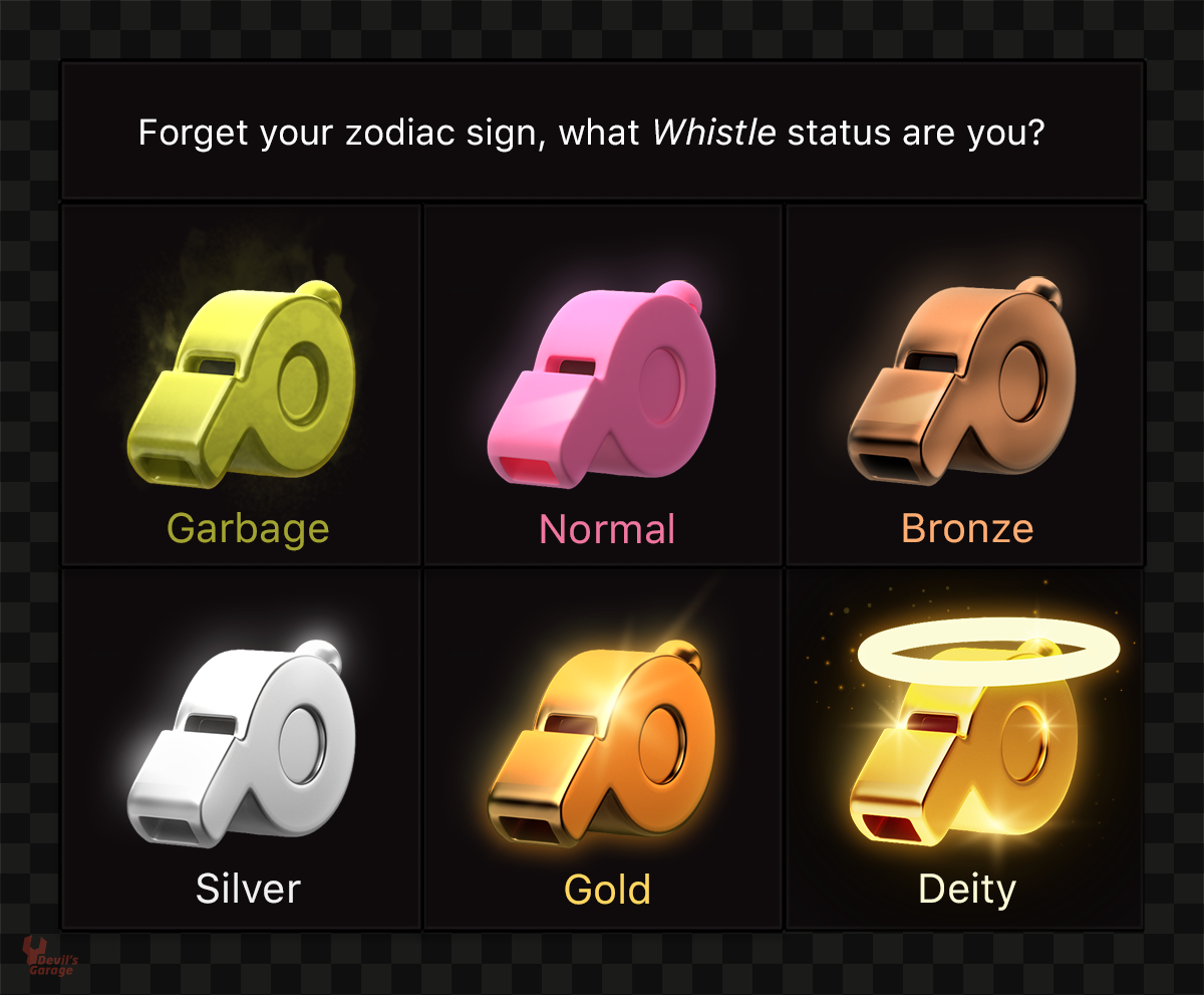 What's your Whistle status?