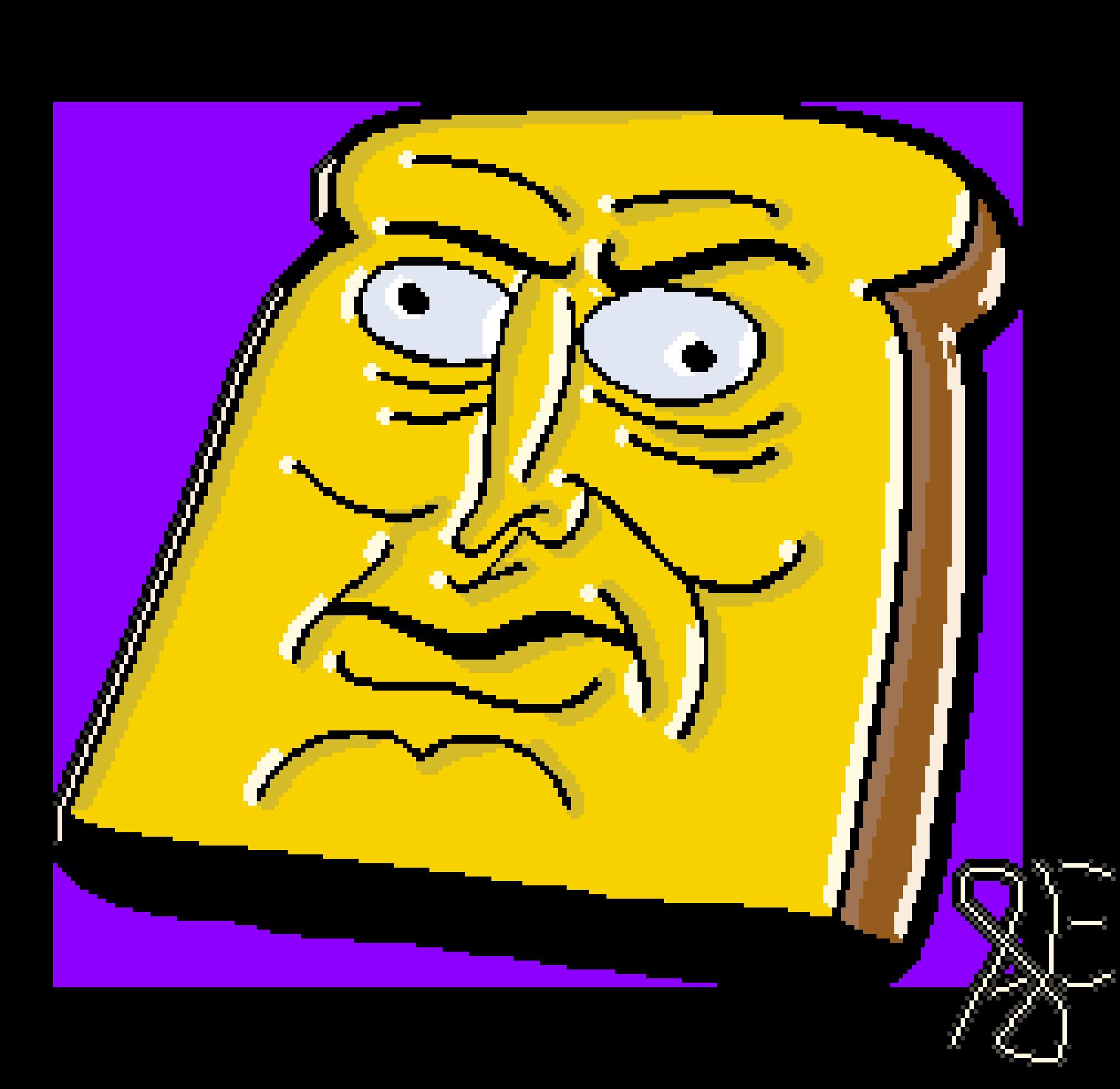 Powdered Toast Man's head