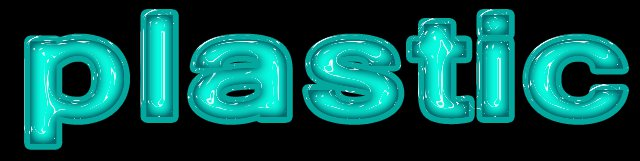 PS - Plastic Text Effect