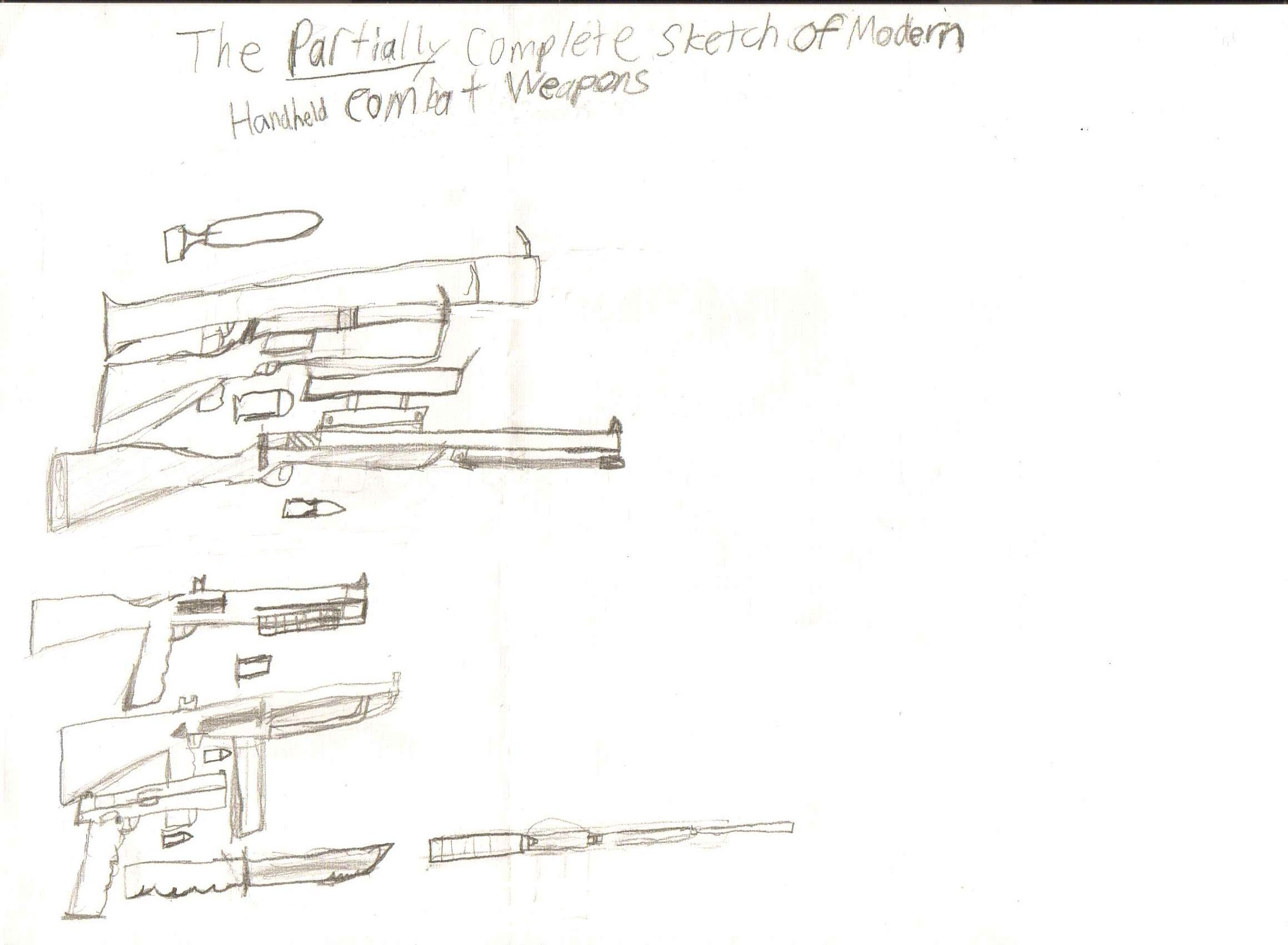 Modern Weapon Sketch