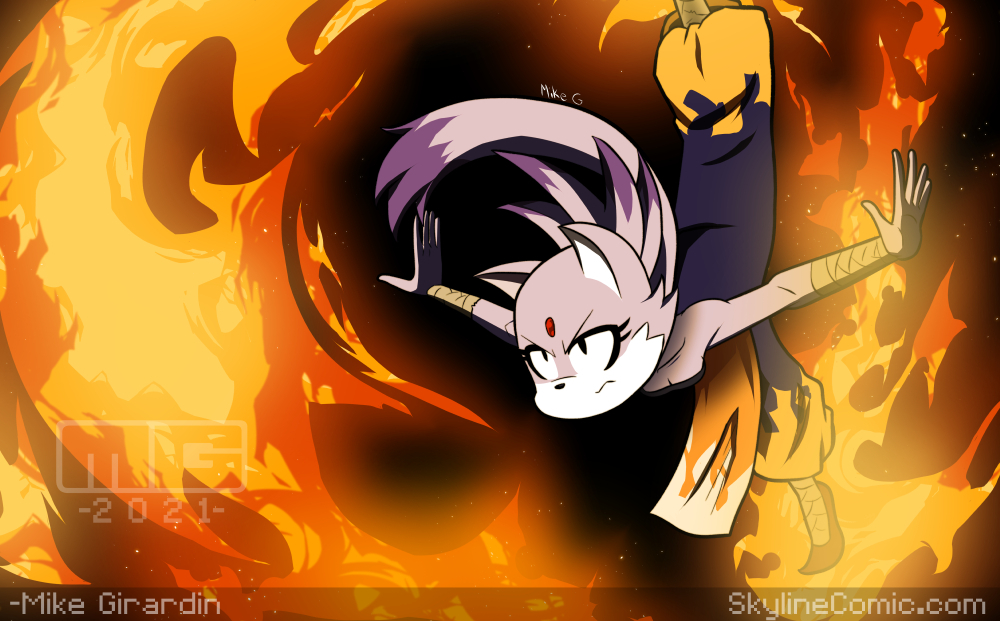 Blaze the Cat FIRED UP