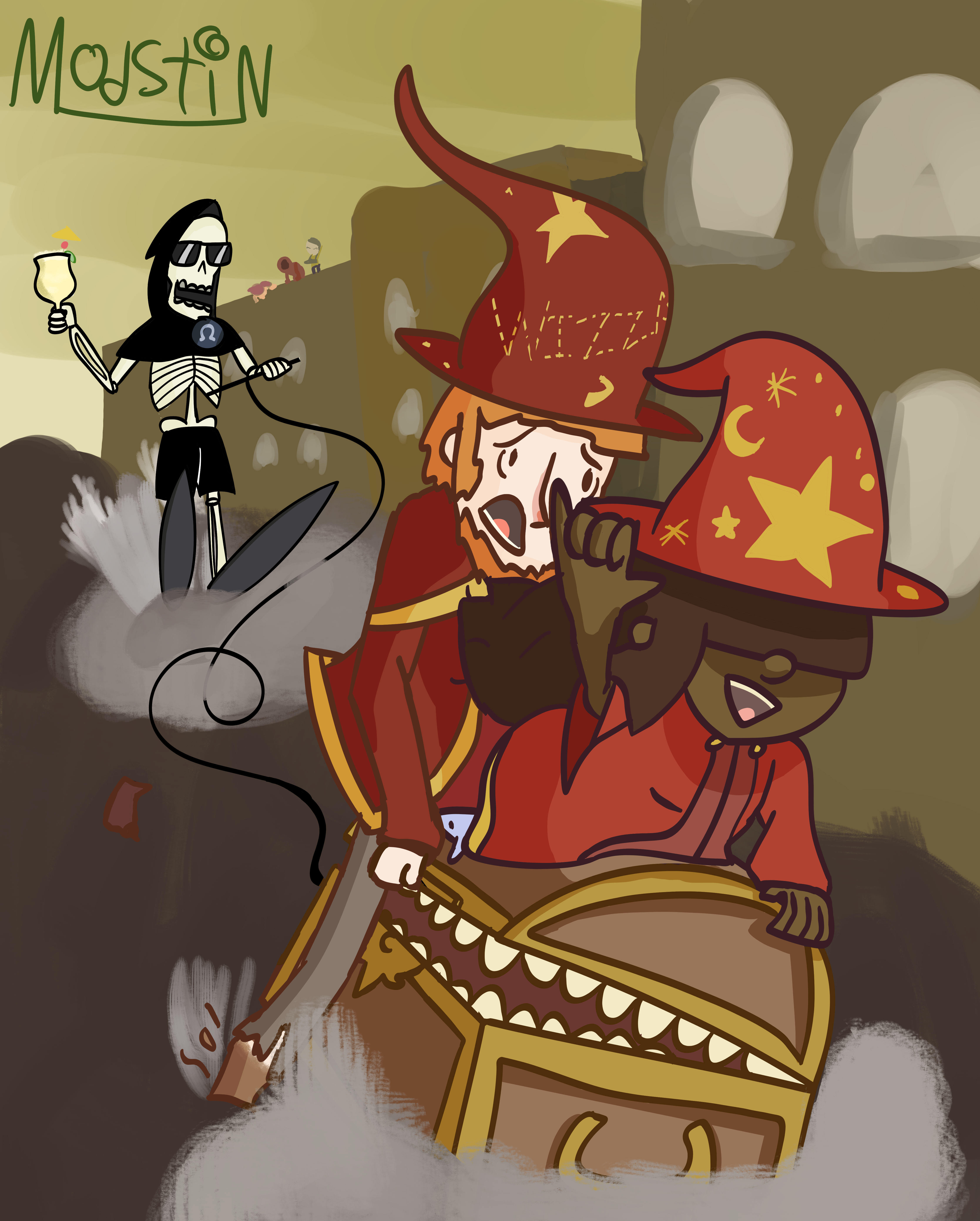 Esk and Rincewind Ride the Wave