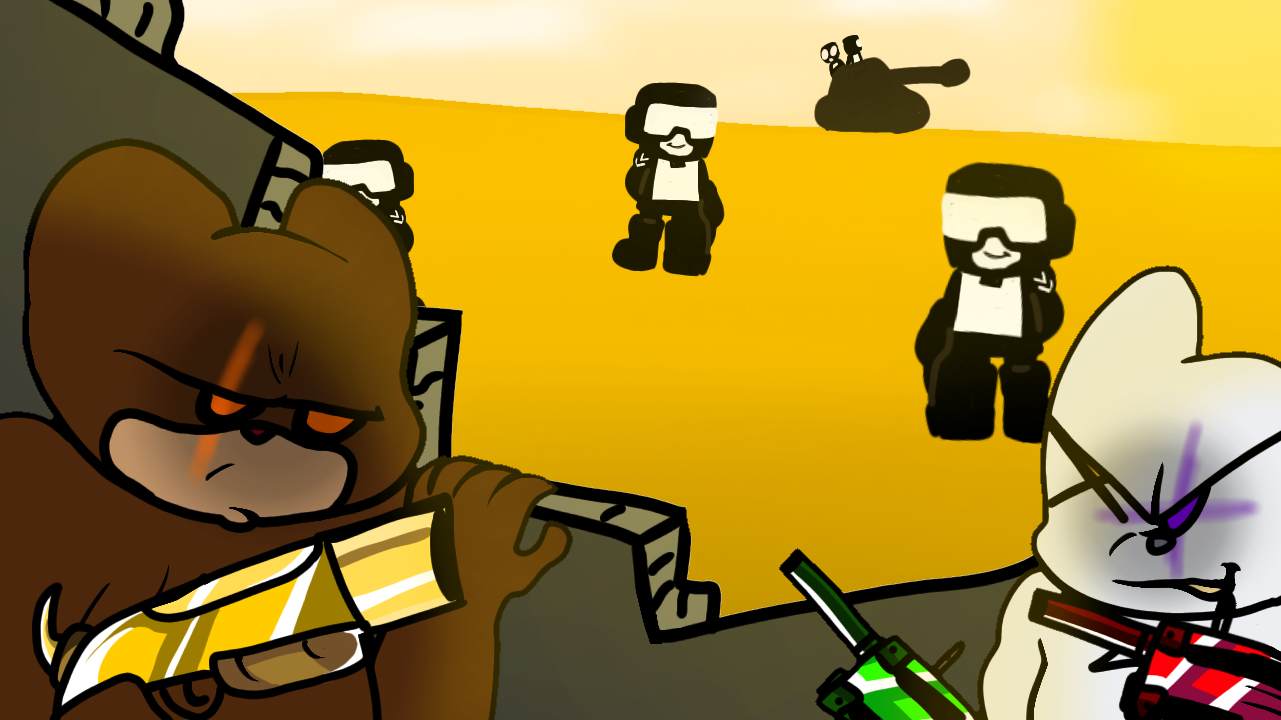 Tankmen vs Bear Gang! Gang! Gang!