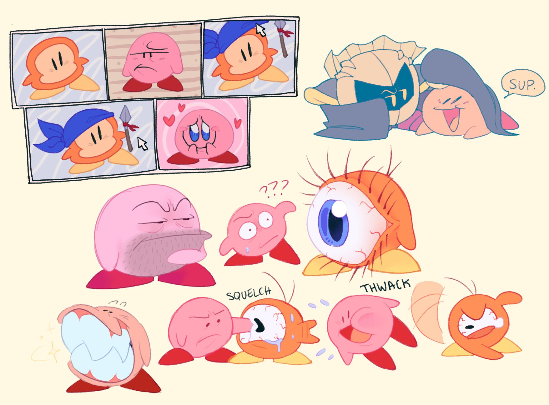 Buncha Kirby doodles
