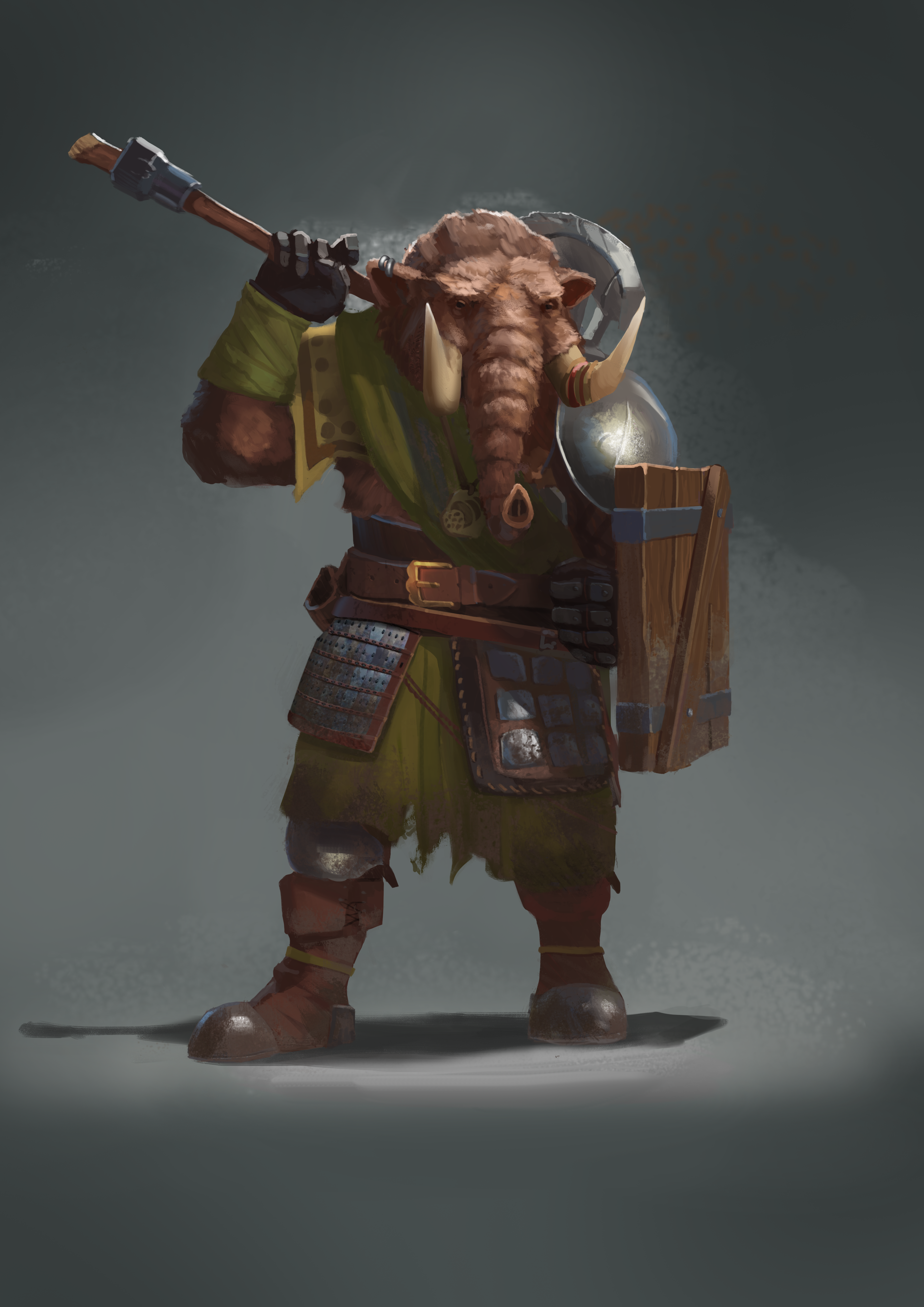Loxodon DnD character commission