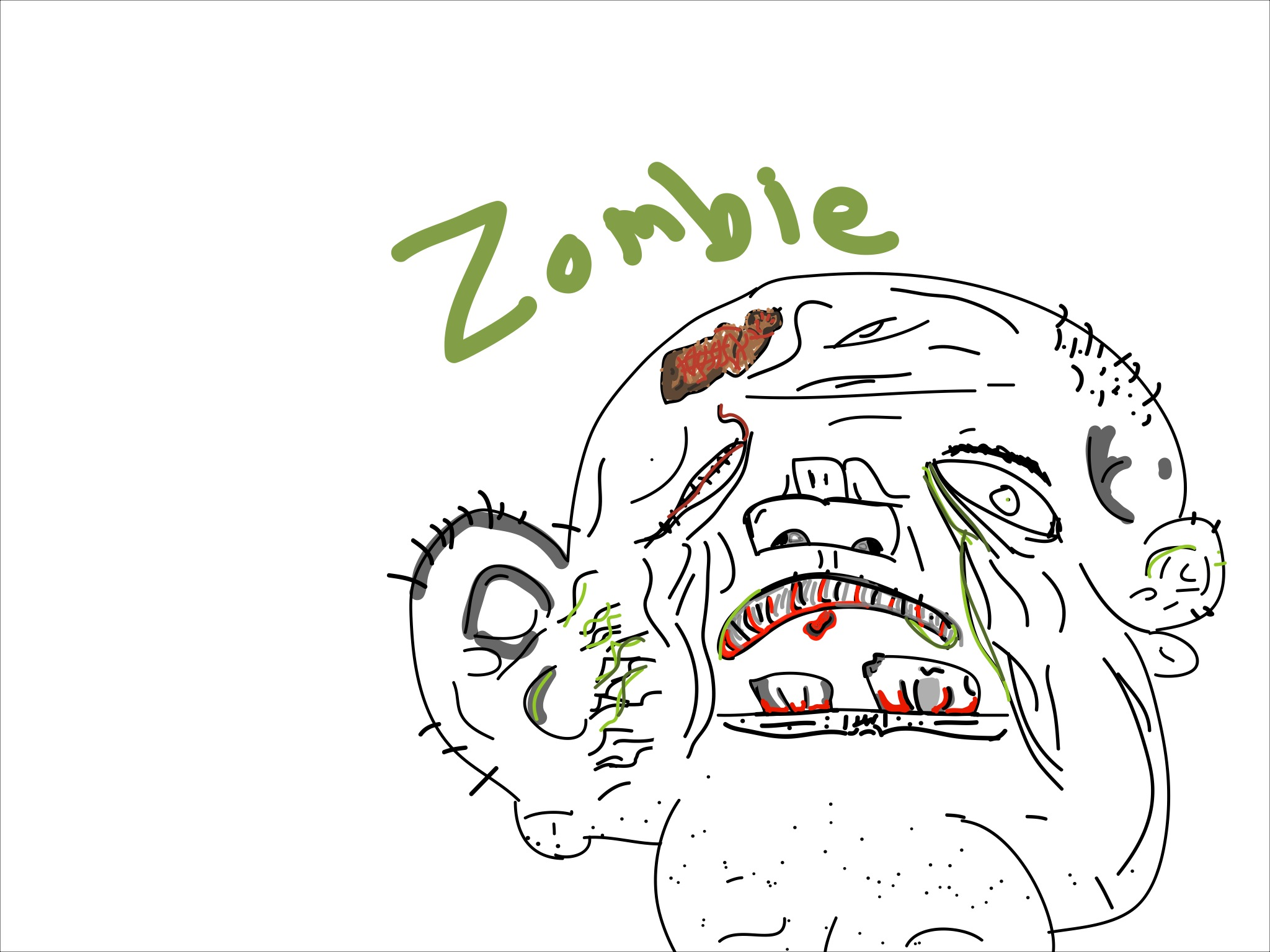 Messed Up Zombie