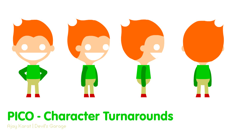 Pico Character Turnarounds