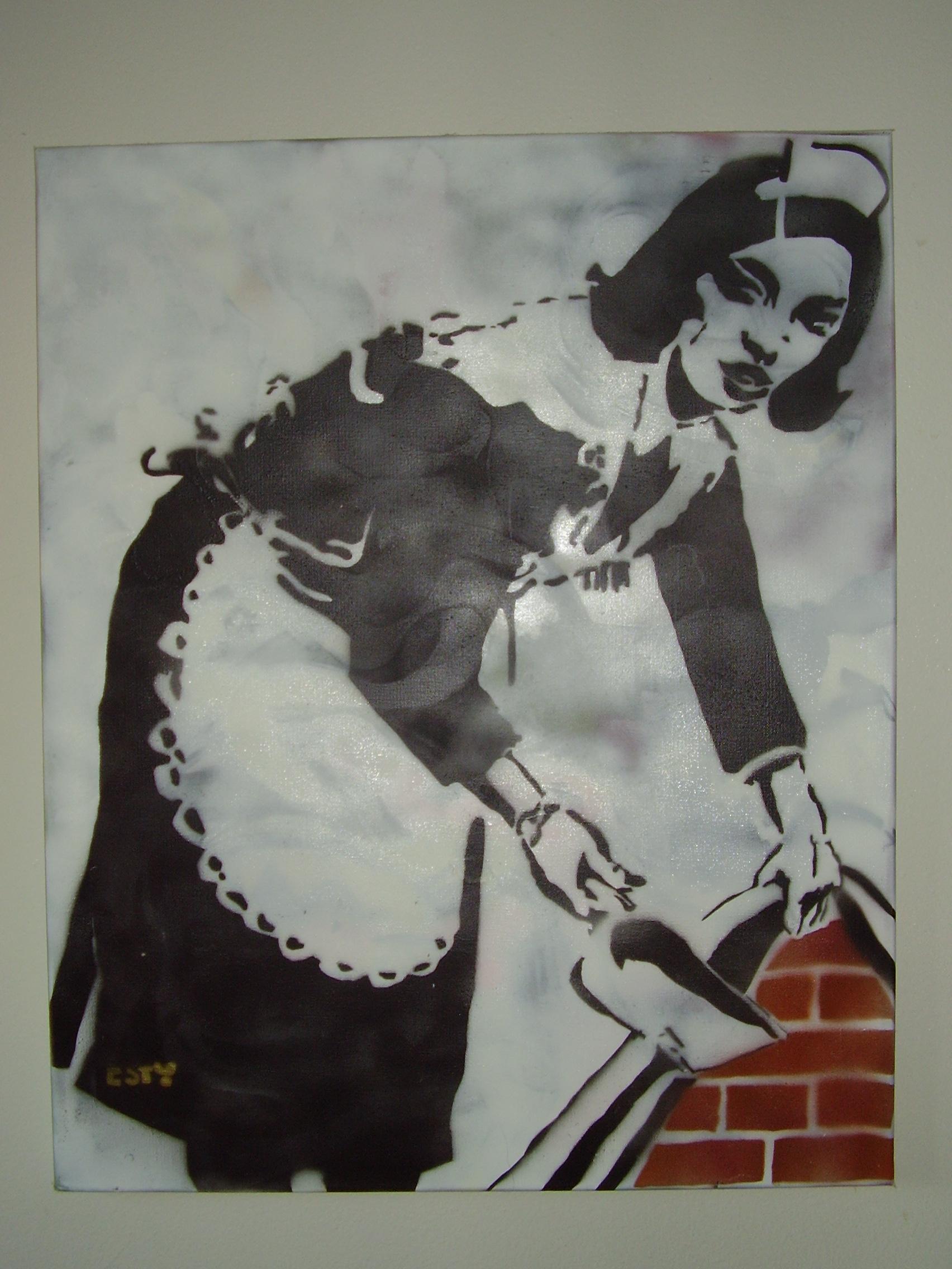 Banksy's Wall Maid