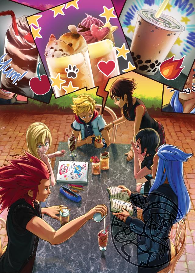 Kingdom Hearts Final Mix zine page