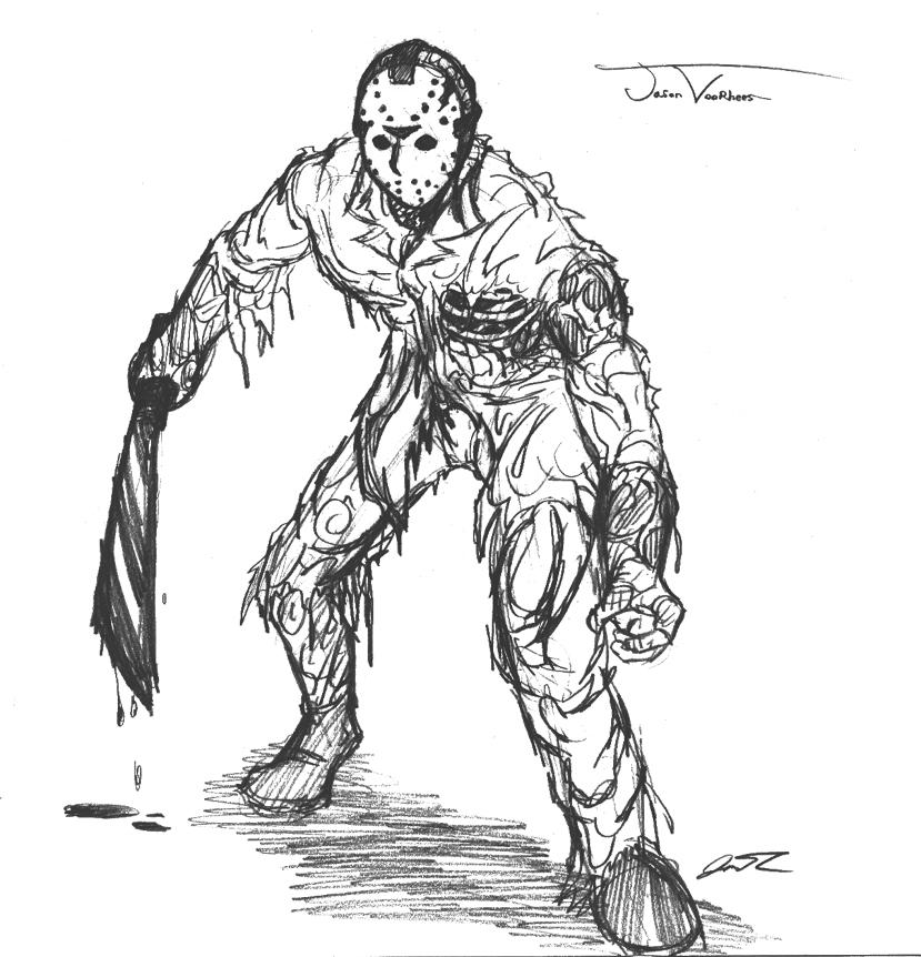 Jason Vorhees Sketch By Sickdeathfiend On Newgrounds