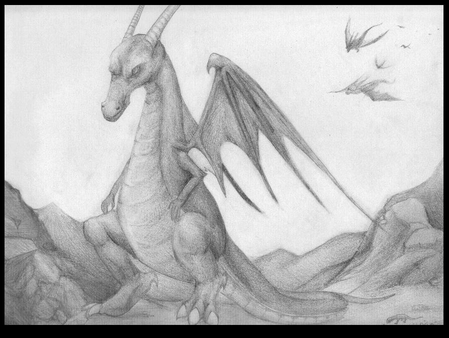 Pencil dragon