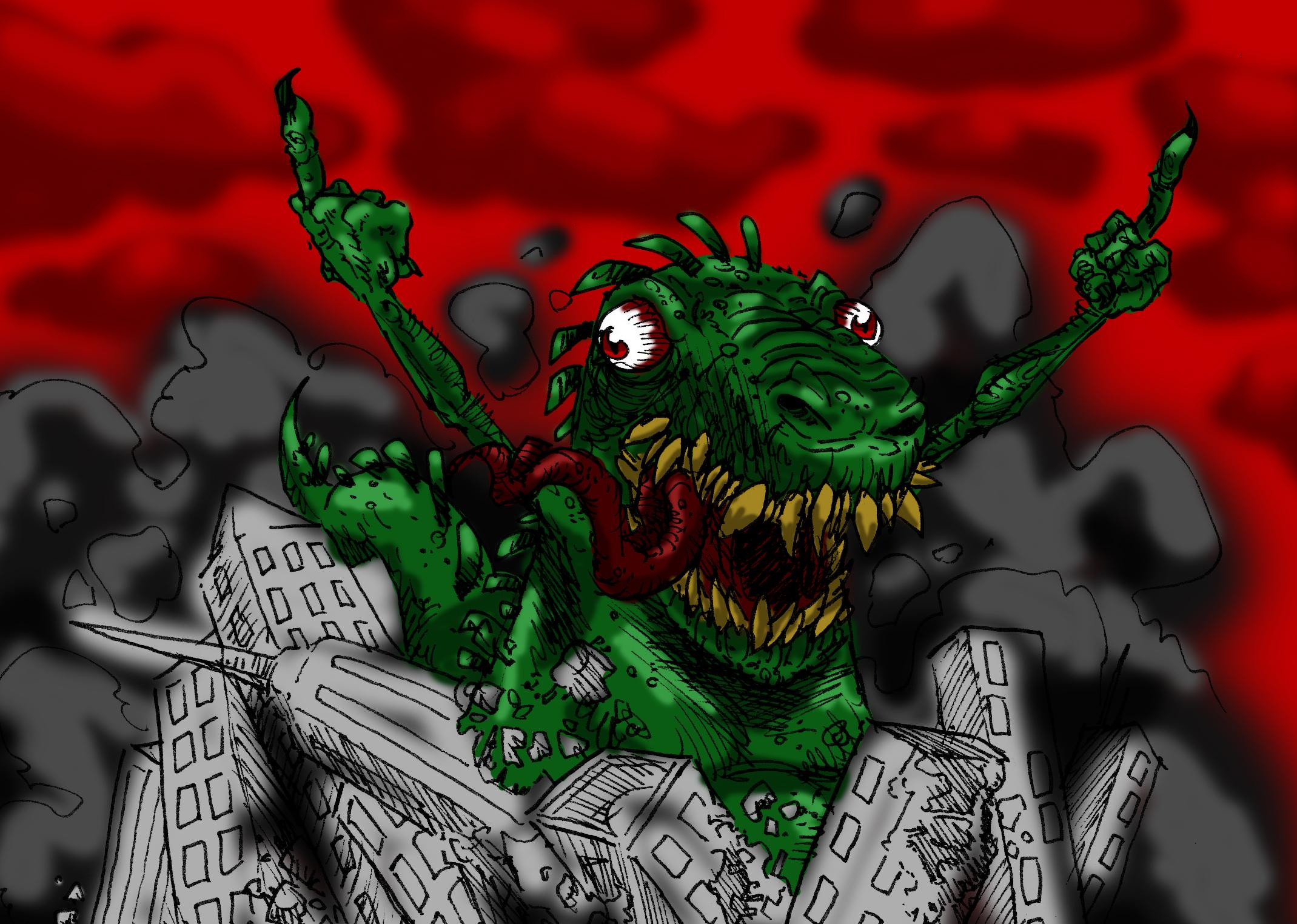 Godzilla fucks you all