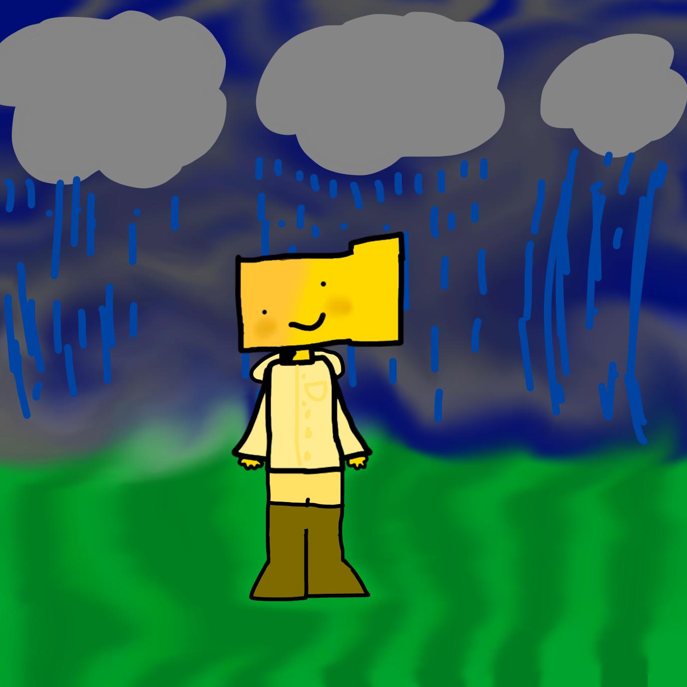 Ron in the rain