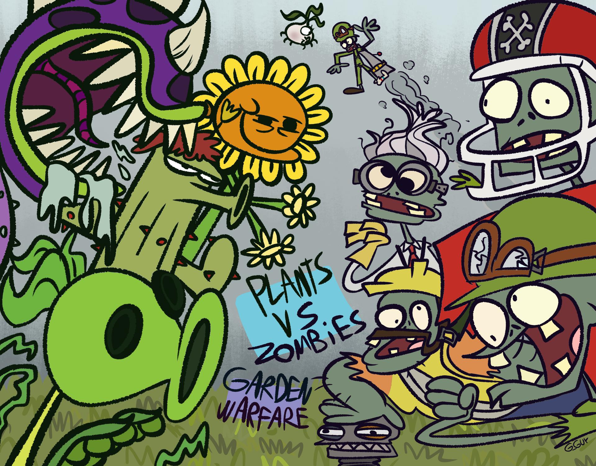Plants Vs Zombies Garden Warfare fanart