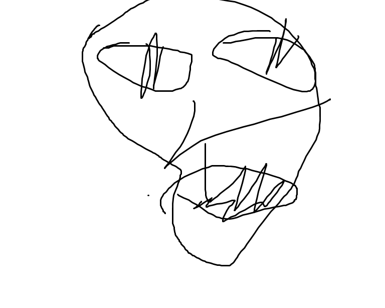 I can't draw.