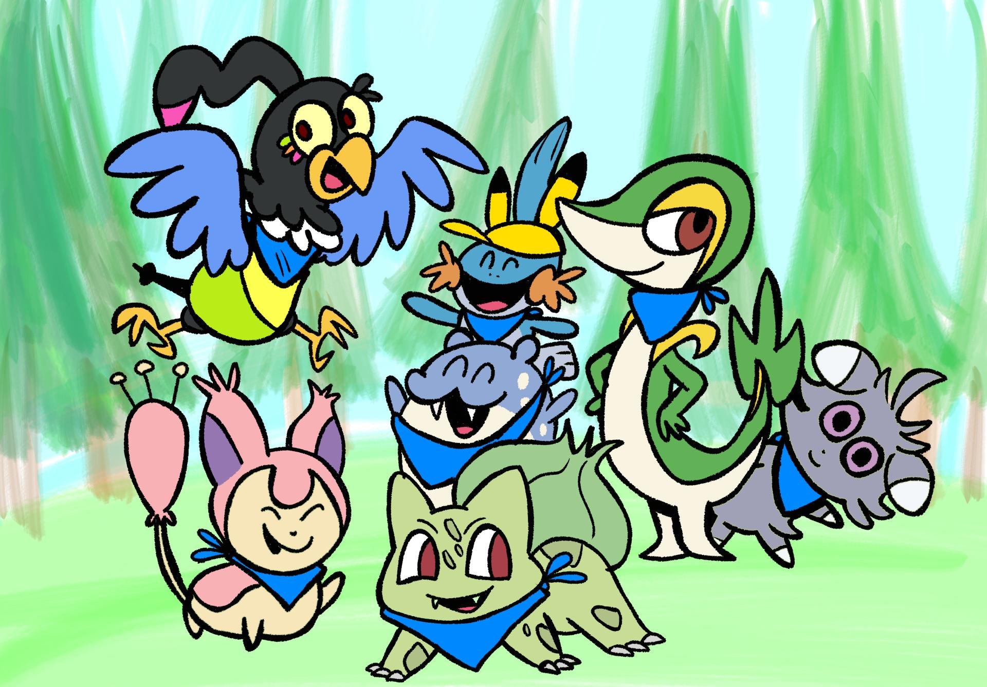Pokemon Group Photo
