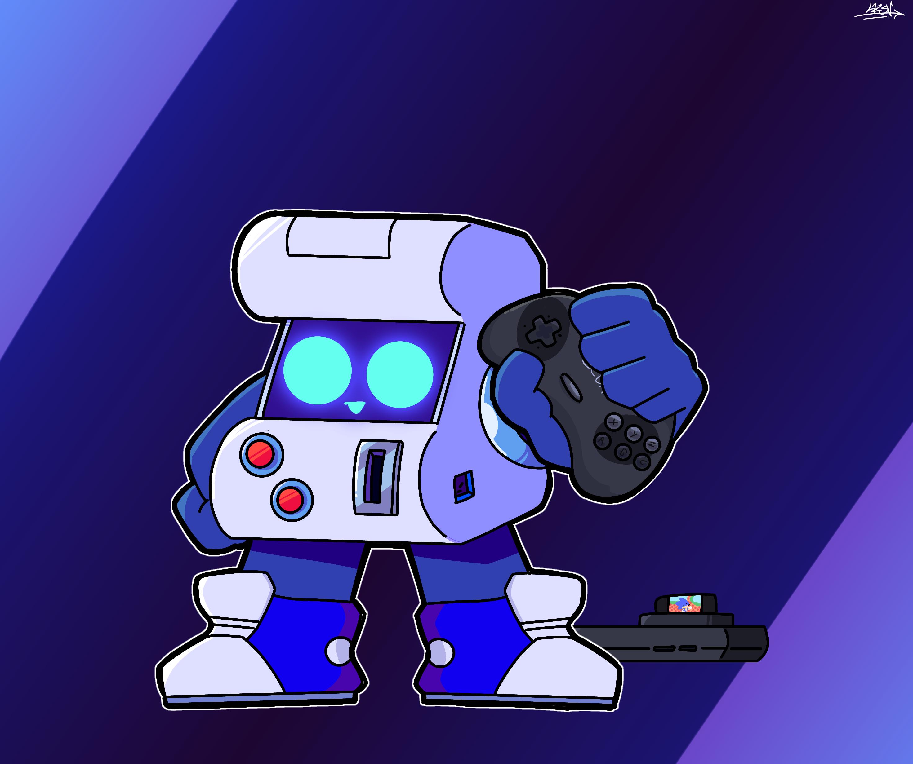 8-bit whit a Sega Genesis control