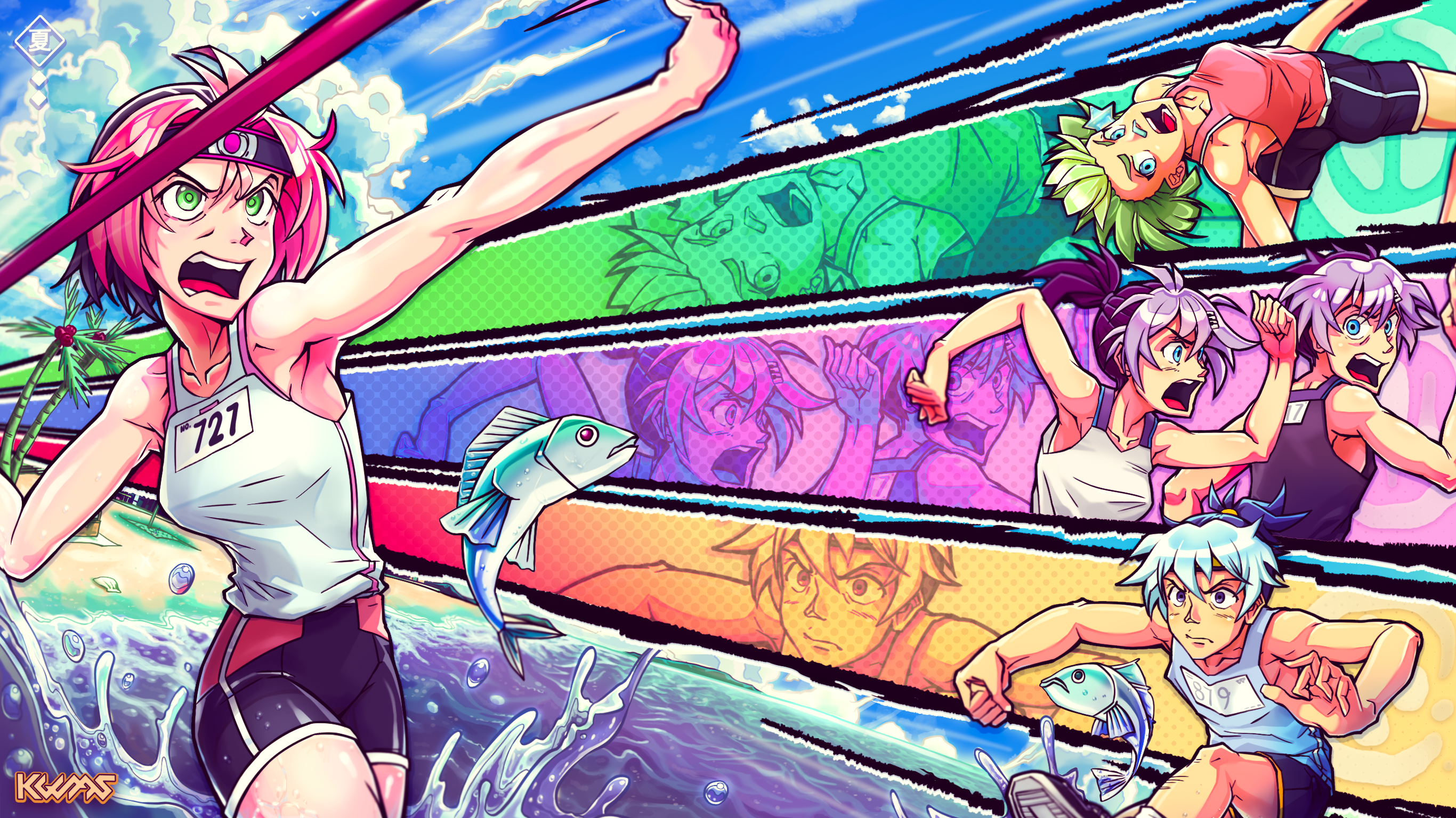 Summer 2021 Track and Field Fanart Contest entry!!