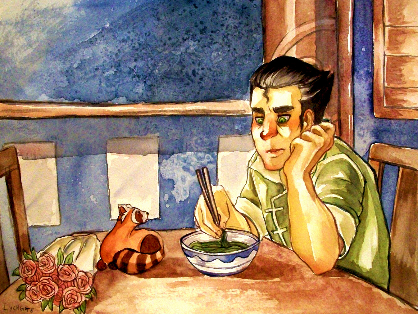 BOLIN EATS HIS PROBLEMS