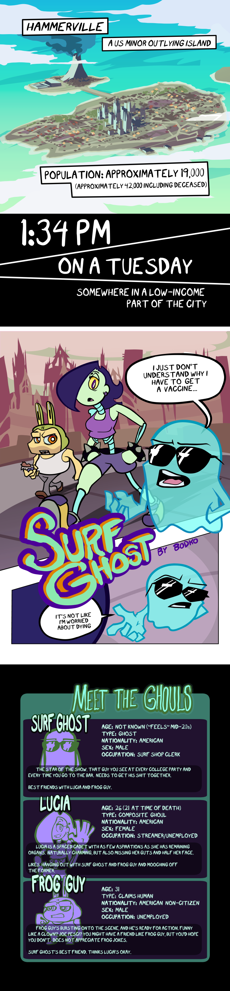 Surf Ghost page 1 + 2