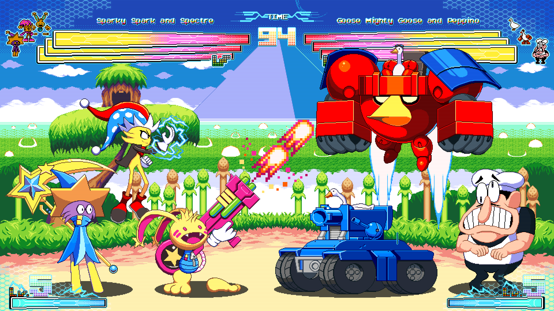 Team Spark vs. Team Goose