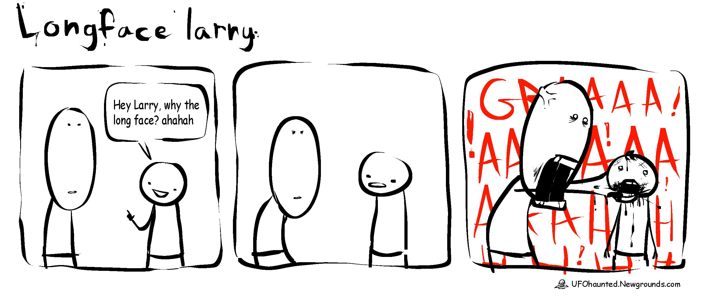 Abducted! Comics: Longface Larry