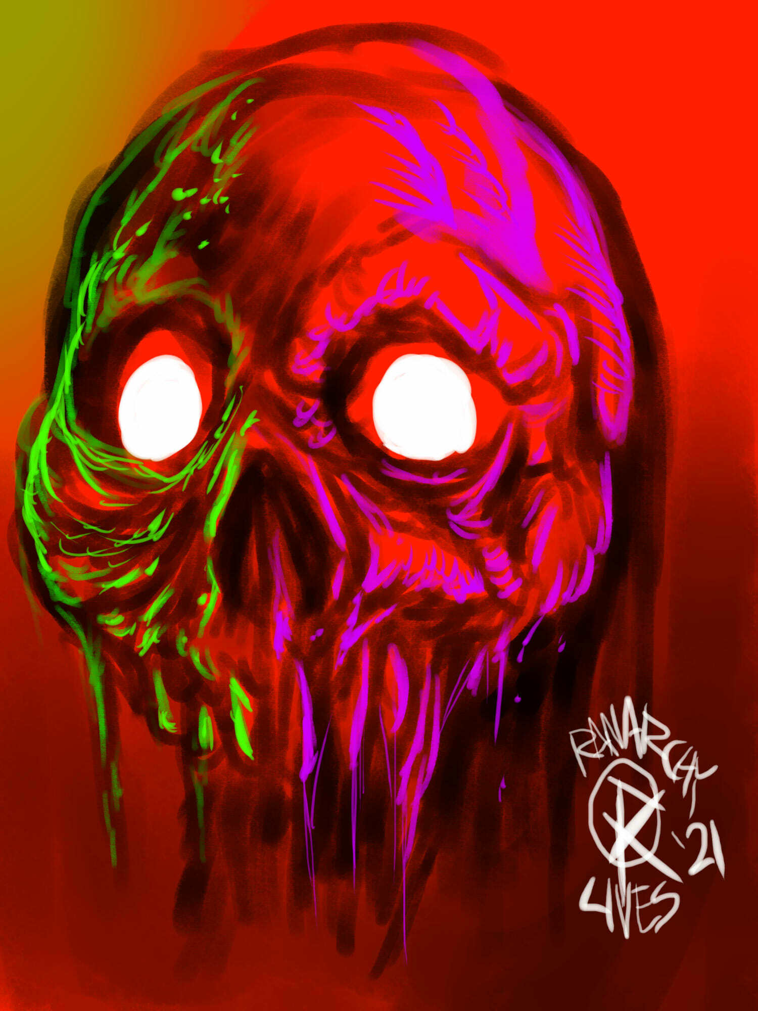 Fluorescent Skull