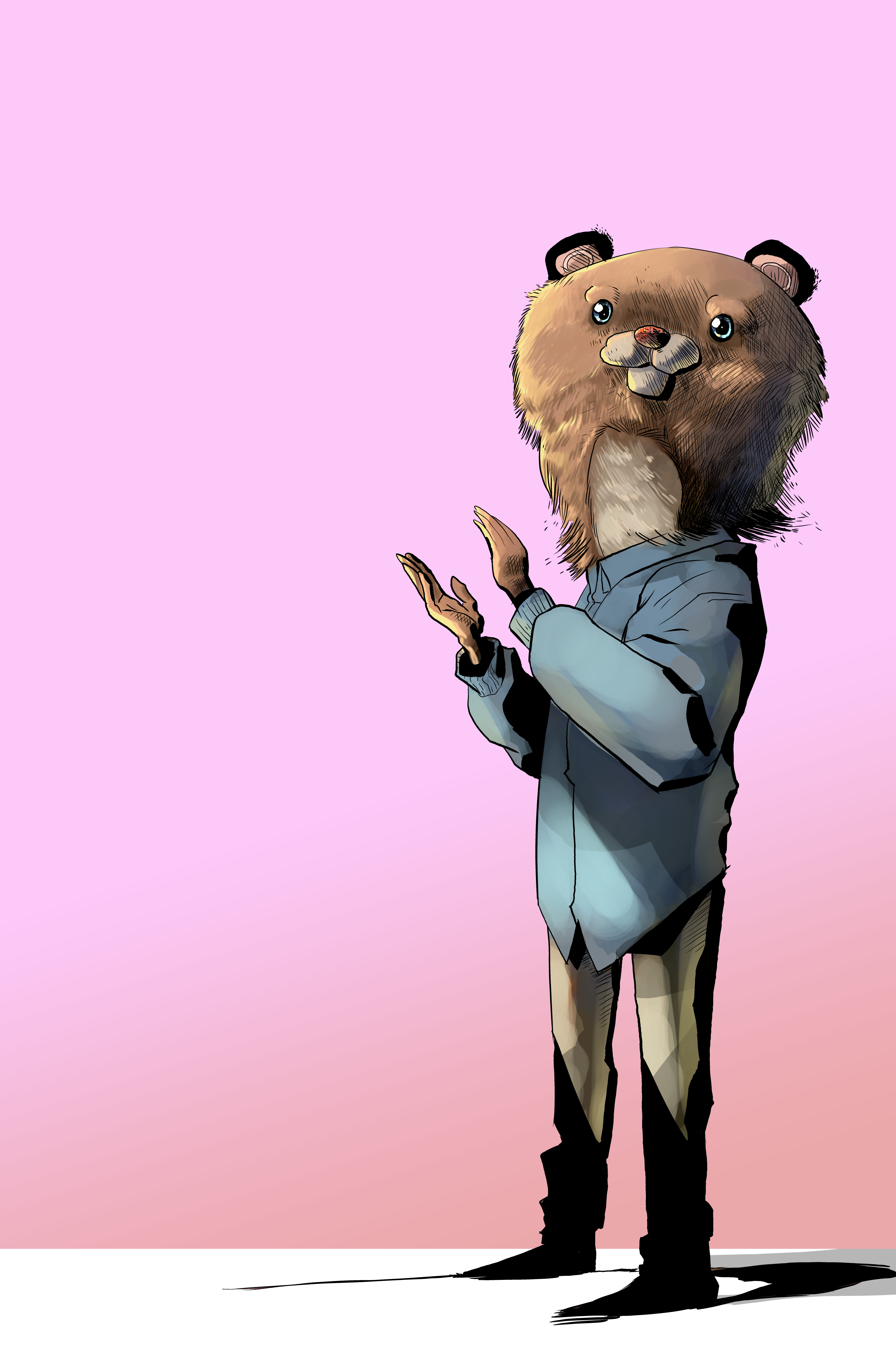 A clapping bear