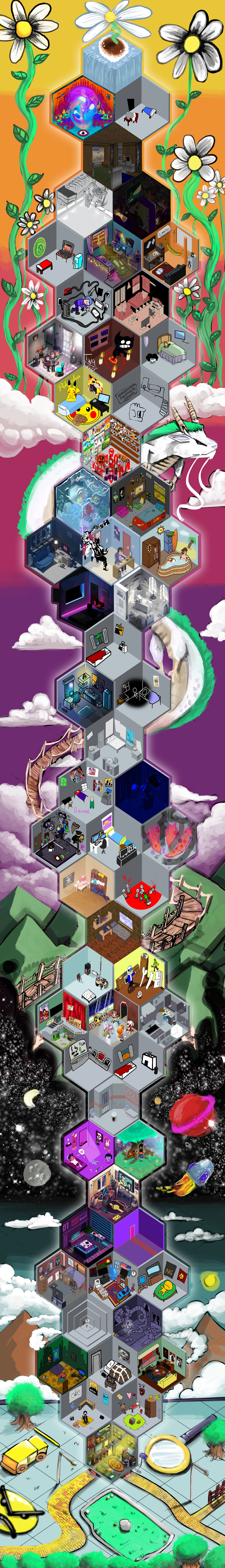 Isometric Collab Poster