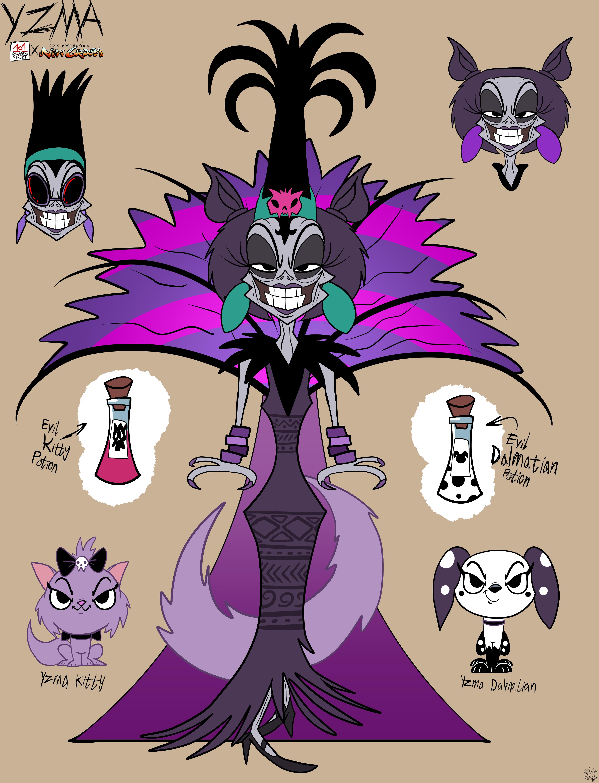 Yzma in 101DS Style (Disney Villain x 101DS Fanart)