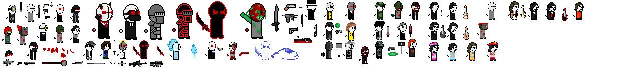 8-bit Madness Combat sprites