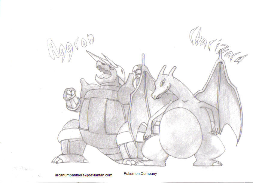 Aggron and Charizard
