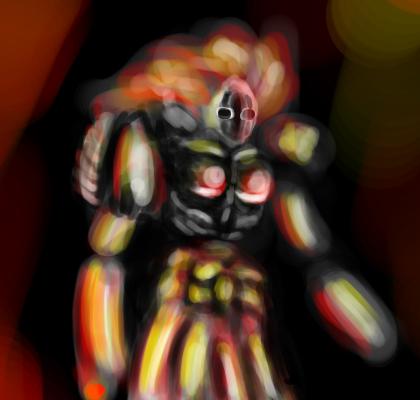10 min speedpaint fire spirit