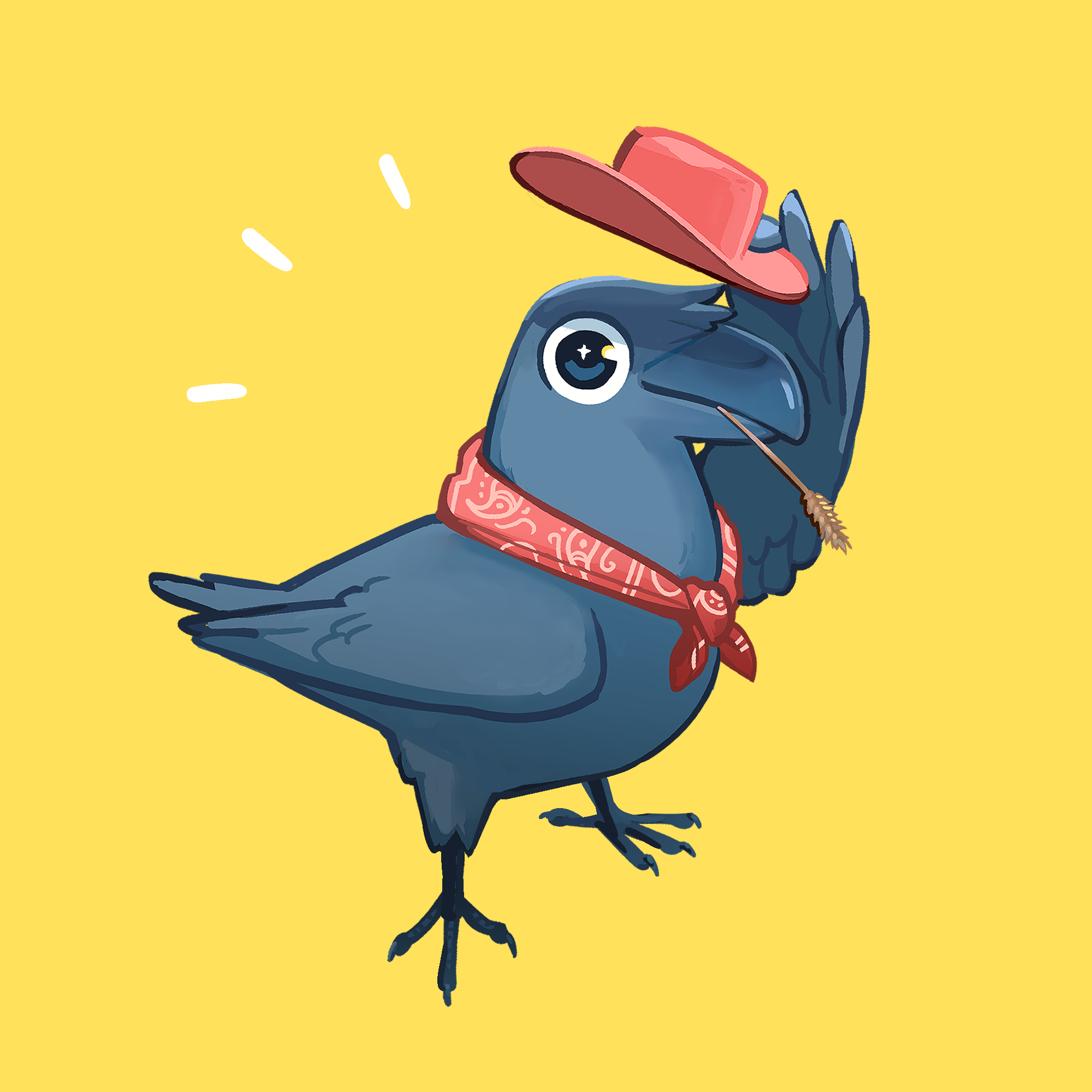 Cowboy Crow Patreon Icon Commission